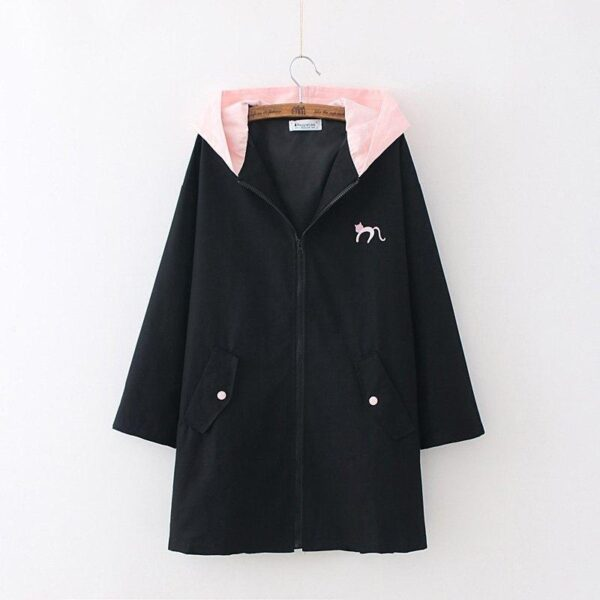 Black and pink Jacket Coat Cat Heart 24