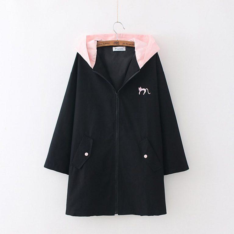Black and pink Jacket Coat Cat Heart 1