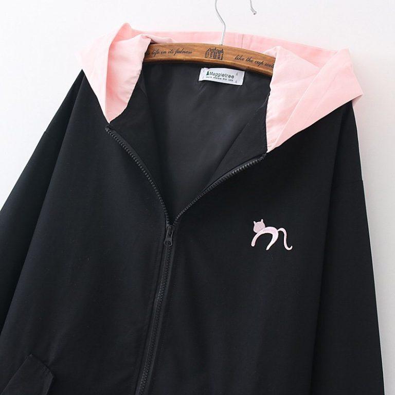 Black and pink Jacket Coat Cat Heart 4