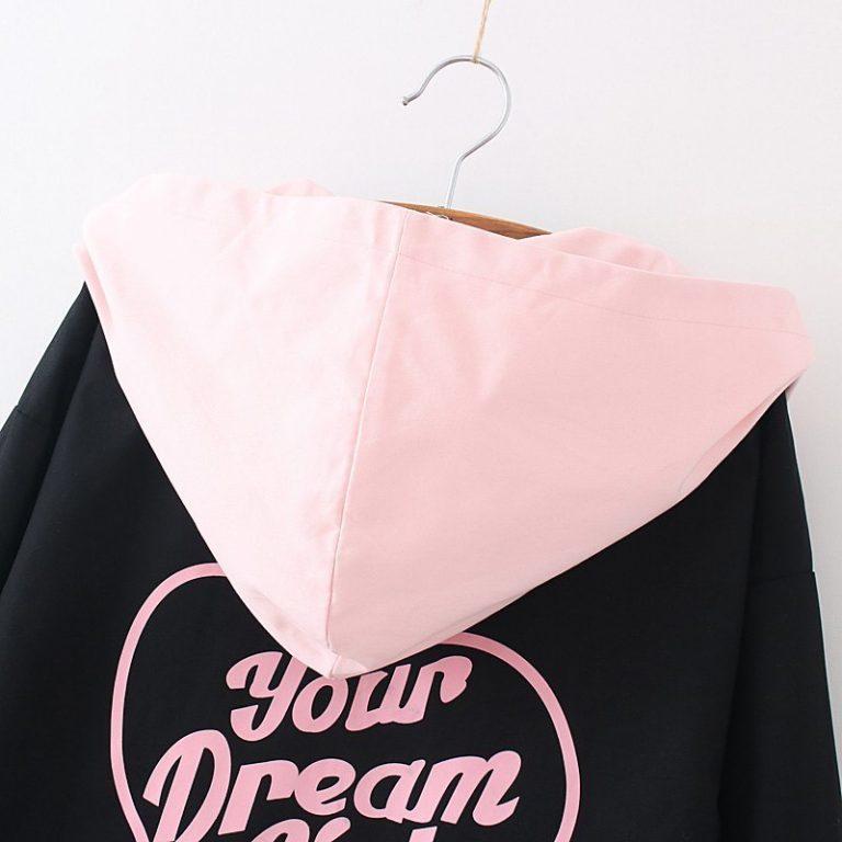 Black and pink Jacket Coat Cat Heart 3
