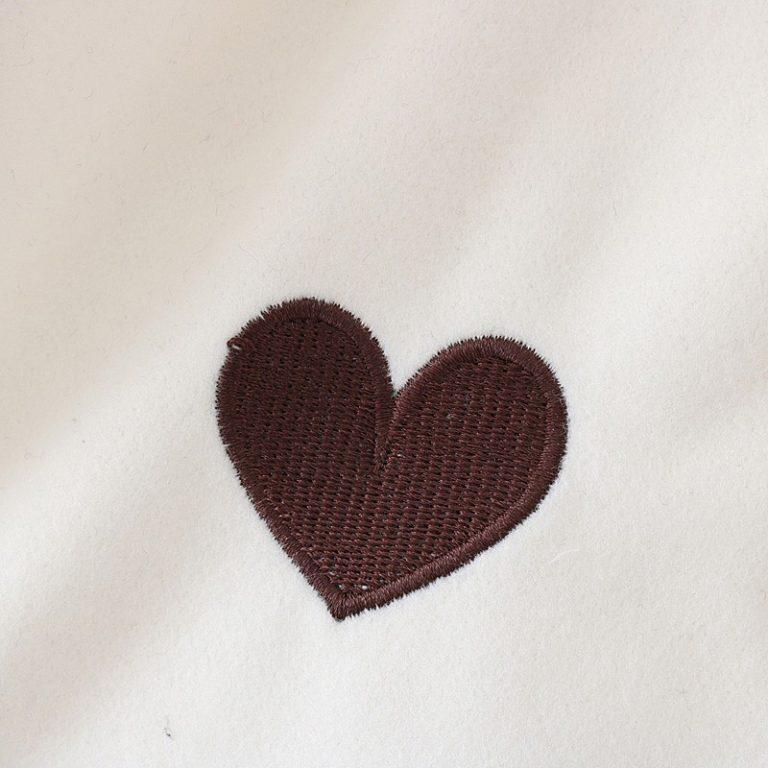 Zipper jacket hood rabbit white heart 4