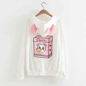 Gum Bear white sweater with ears 12