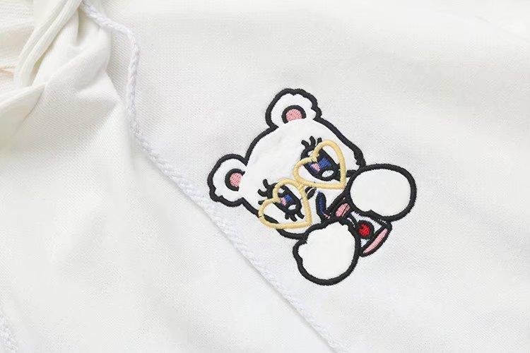 Gum Bear white sweater with ears 3