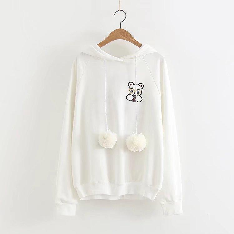 Gum Bear white sweater with ears 2