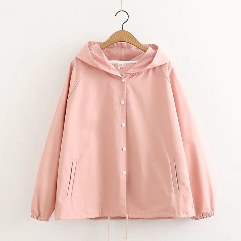 Cat pink jacket with hoodie 2