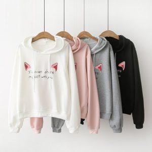 Catlover Sweatshirt Hooded Gyaru Paradise Kawaii Clothing