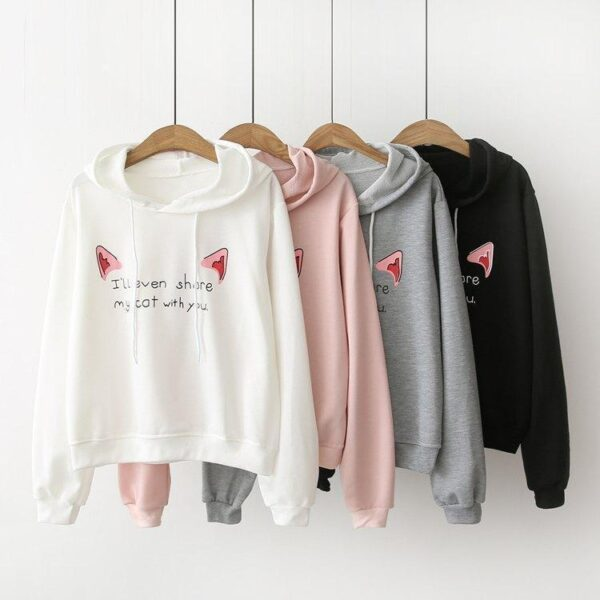 Catlover Sweatshirt Hooded Gyaru Paradise Kawaii Clothing