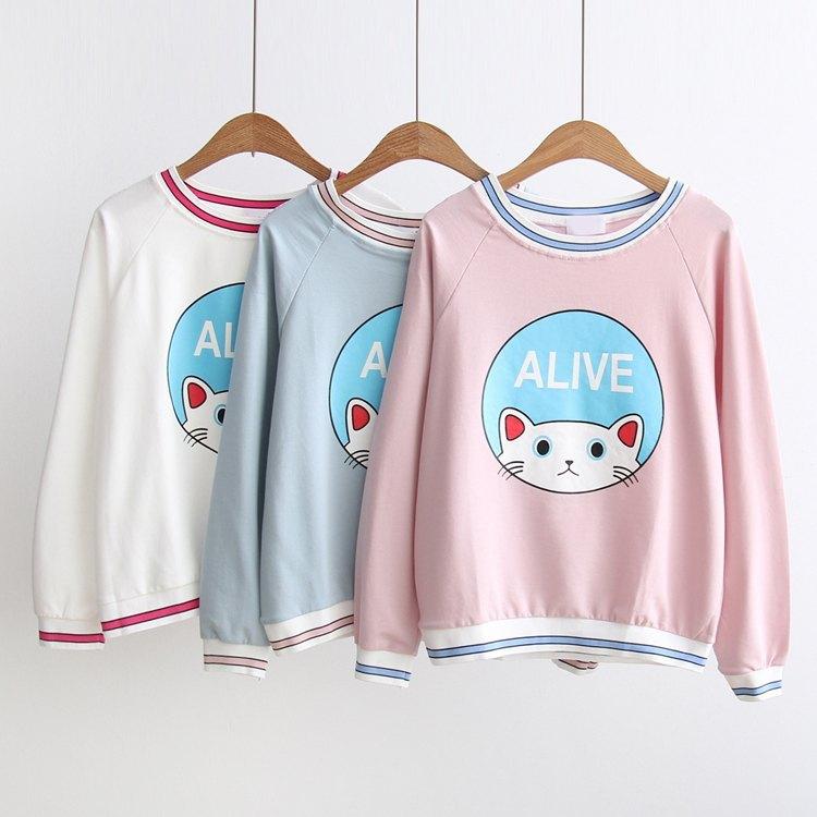 Cat Sweater White 4