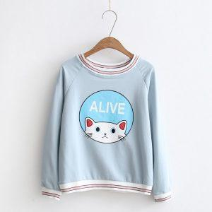 Cat Sweater Blue 4