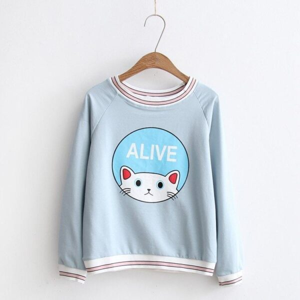 Cat Sweater Blue 7