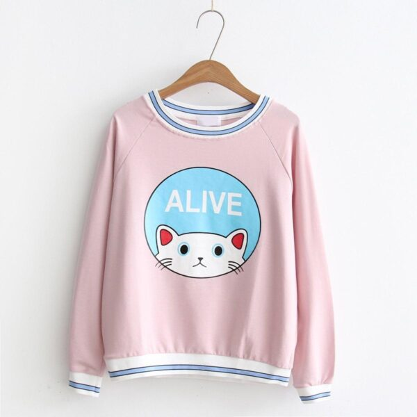 Cat Sweater Pink 7