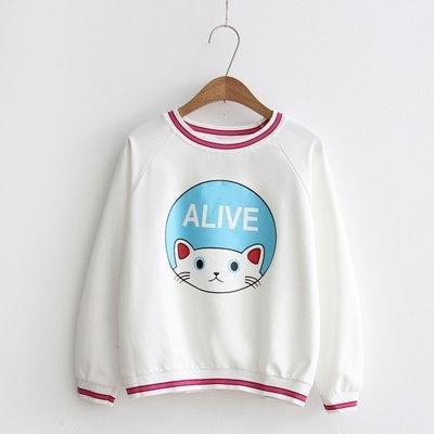 Cat Sweater White 9