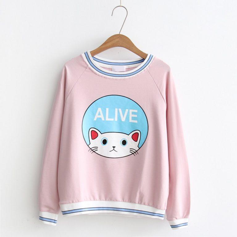 Cat Sweater White 7