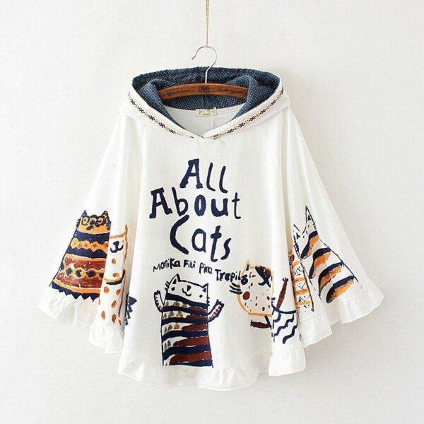 Mori women cartoon cat cape 2
