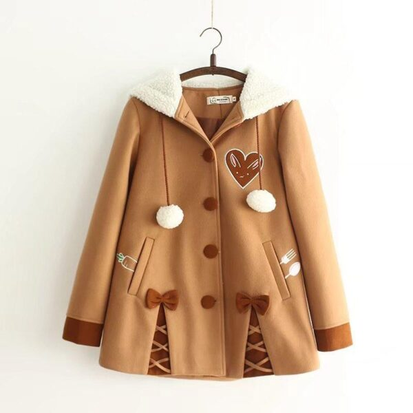 Hooded coat, chocolate chip cookie 6