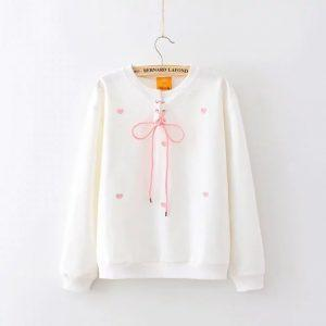 White shirt with pink hearts 11