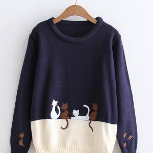 Japanese  four cat  sweater 11