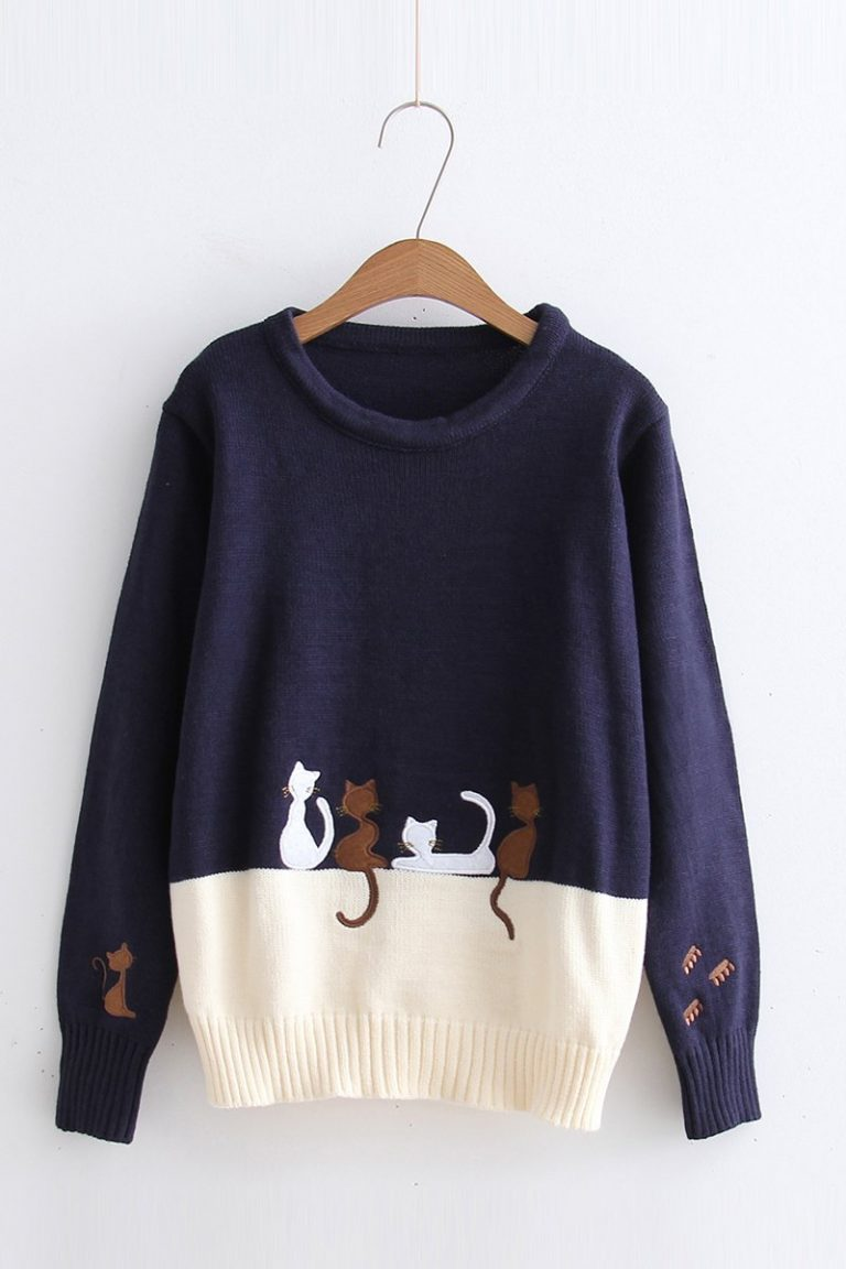 Japanese four cat sweater 1