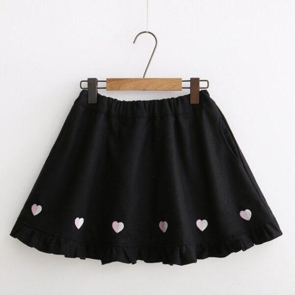 Japanese winter wool skirt 12