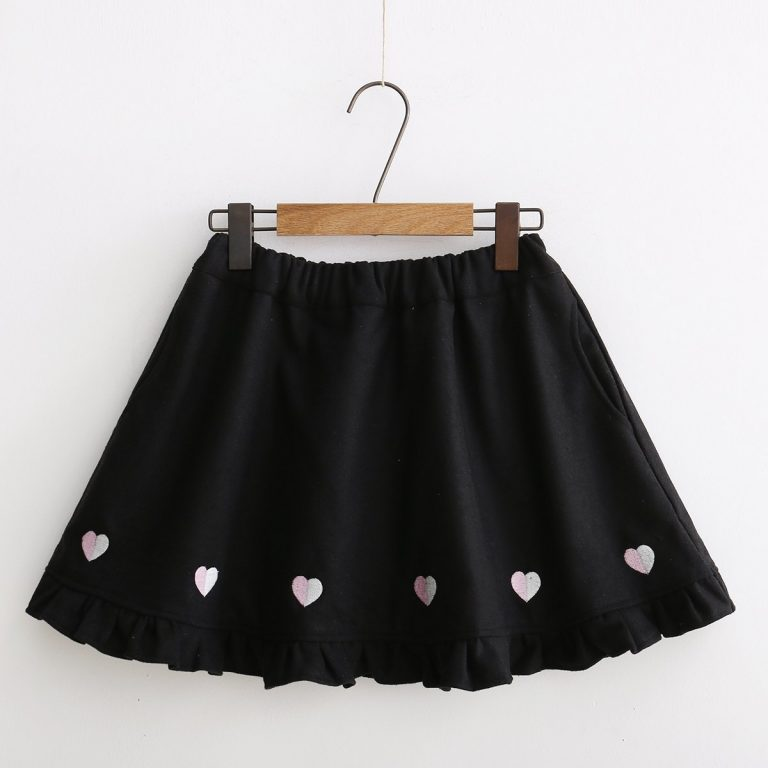 Japanese winter wool skirt 1