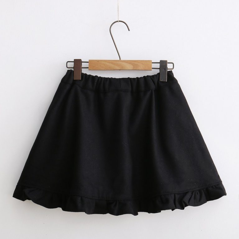 Japanese winter wool skirt 2