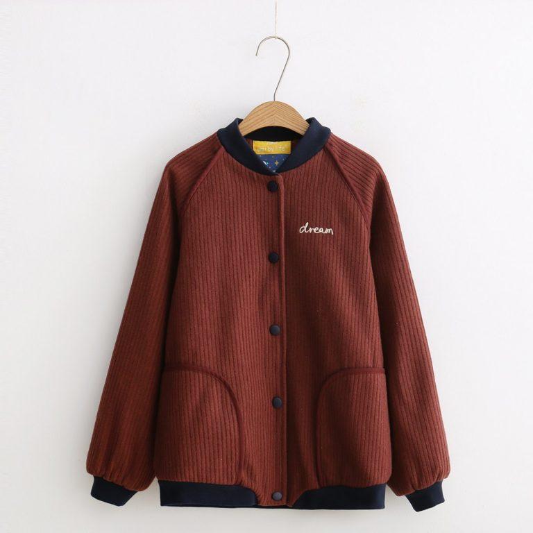 Japanese Style  Corduroy  Jacket 2