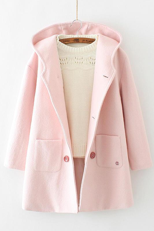 pink coat with ears 6