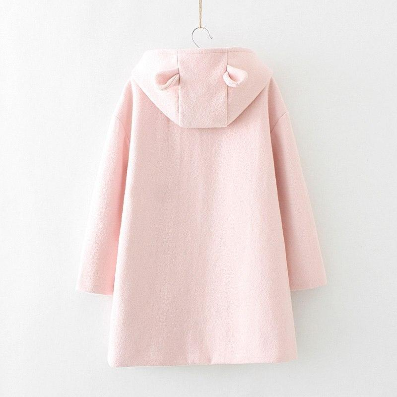 pink coat with ears