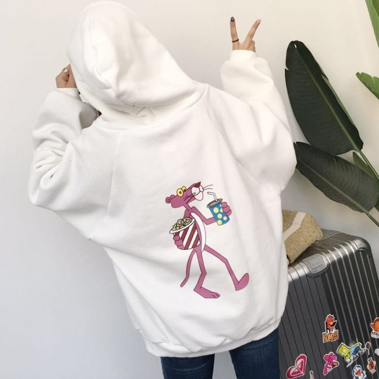 Japanese pink panther hoodies sweater 3