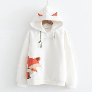 Japanese fox  cashmere warm sweater 2