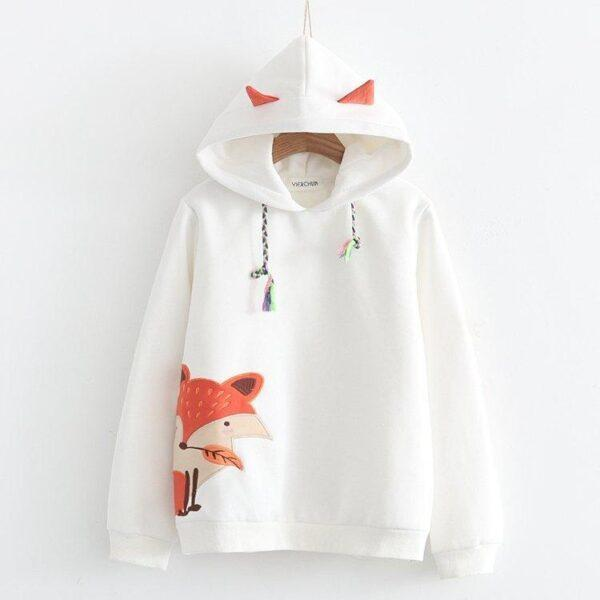 Japanese fox  cashmere warm sweater 8