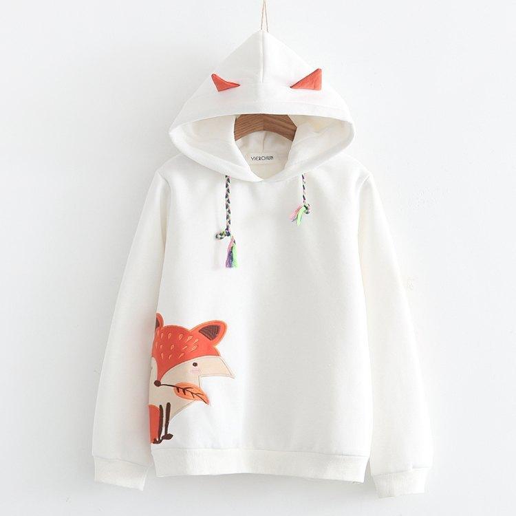 Japanese fox cashmere warm sweater 1