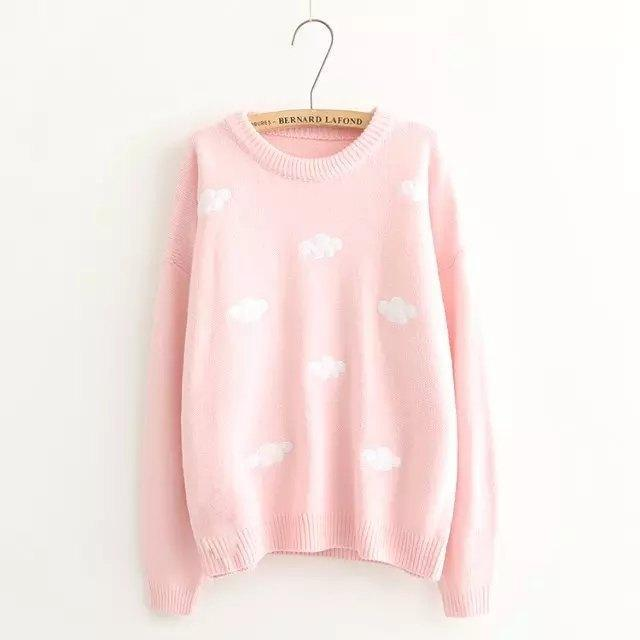 Sweater Sweet Cloud Beige Pink 1