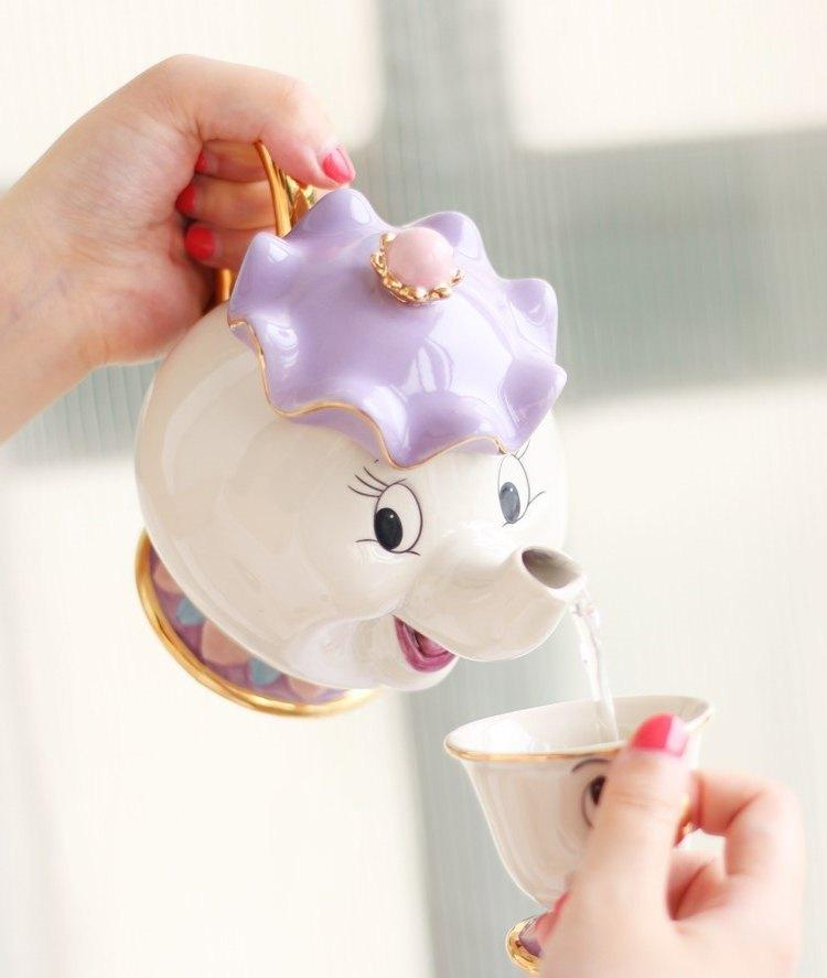 Tea set of Mrs. Potts and Chip - The Beauty and The Beast 2