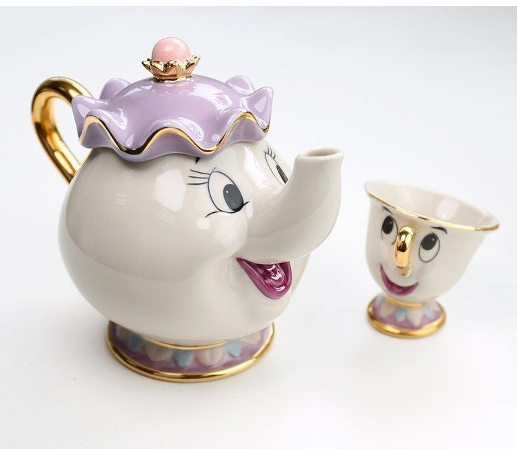 Tea set of Mrs. Potts and Chip - The Beauty and The Beast 1