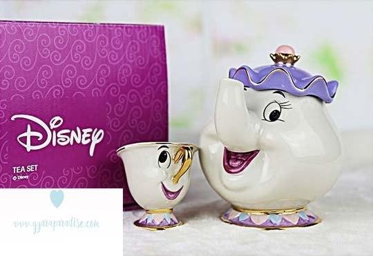 Tea set of Mrs. Potts and Chip - The Beauty and The Beast 3
