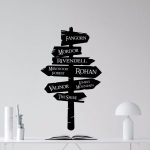 Vinyl sticker road sign Lord of the Rings decal wall sticker removable Mural road sign wall wallpaper home decoration AY0193
