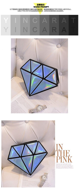Bolso holográfico diamante en bruto 2