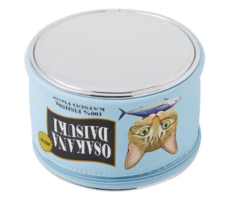 Neceser kawaii estilo lata de comida para gatos 7
