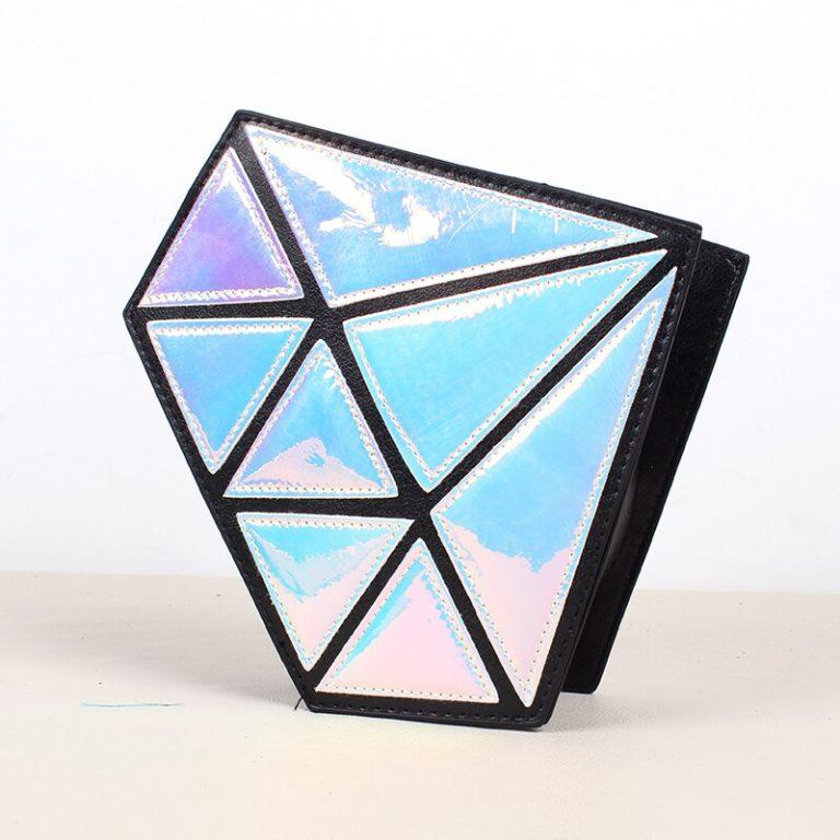 Bolso holográfico diamante en bruto 1