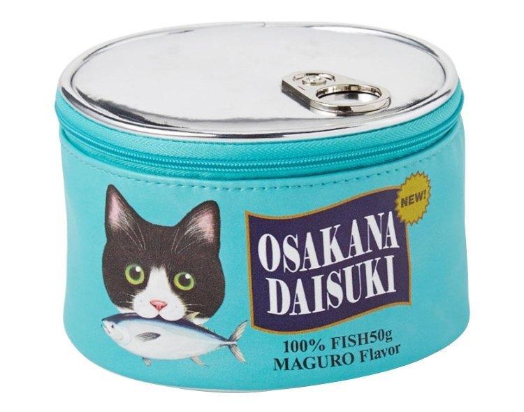 Neceser kawaii estilo lata de comida para gatos 5