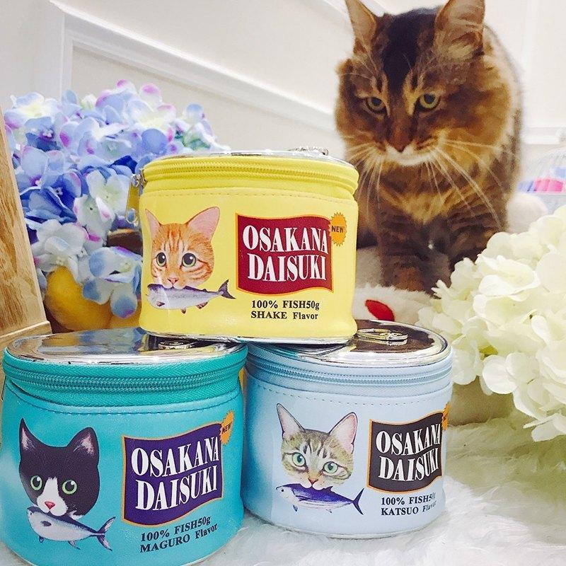 Neceser kawaii estilo lata de comida para gatos 2