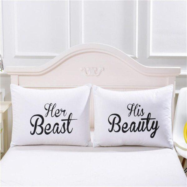 Pillow cases Beauty and The Beast