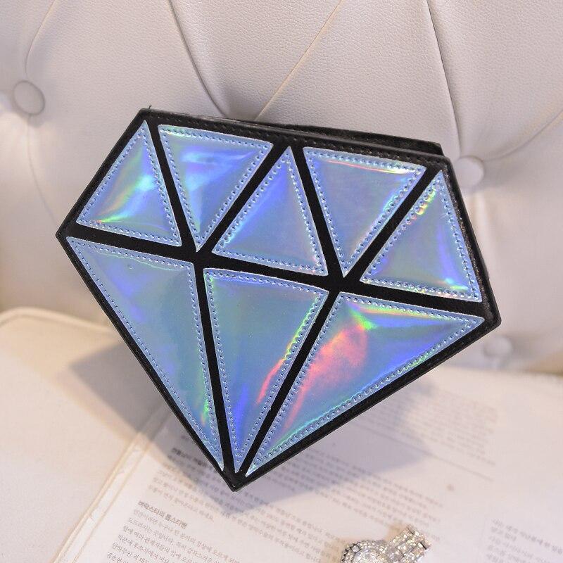 Bolso holográfico diamante en bruto 5