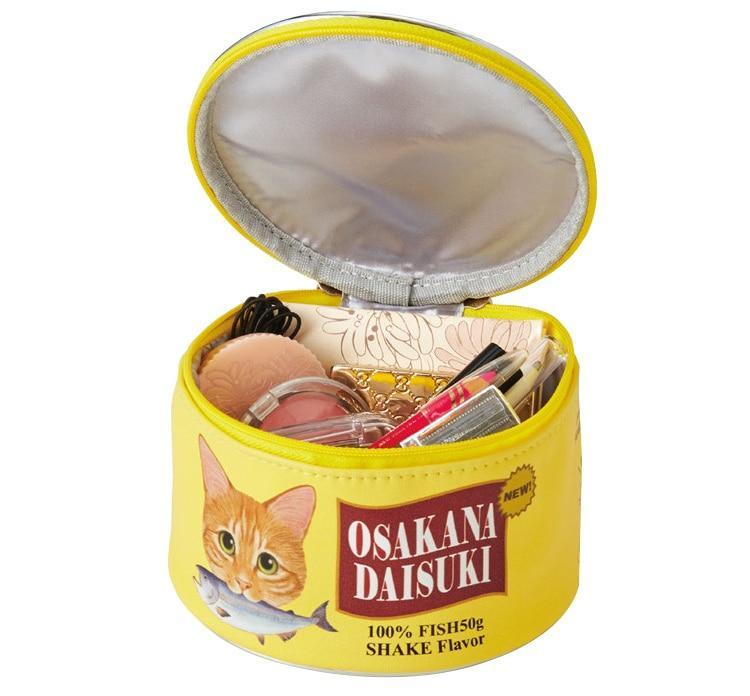 Neceser kawaii estilo lata de comida para gatos 8