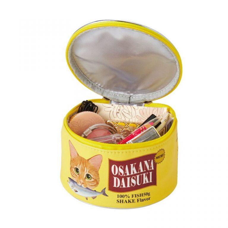 Neceser kawaii estilo lata de comida para gatos 3