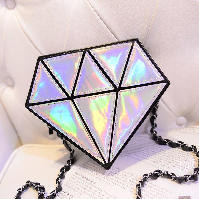 Bolso holográfico diamante en bruto 4