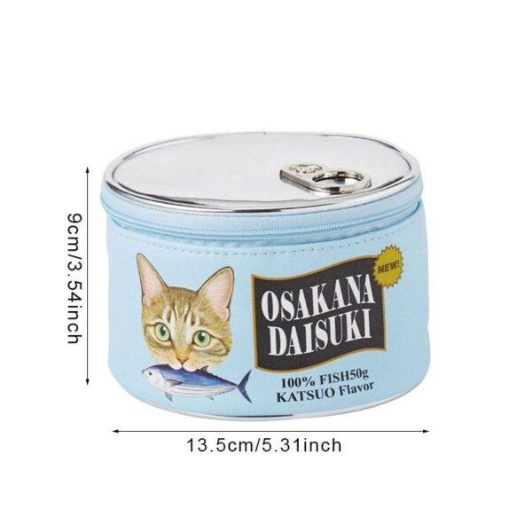Neceser kawaii estilo lata de comida para gatos 1