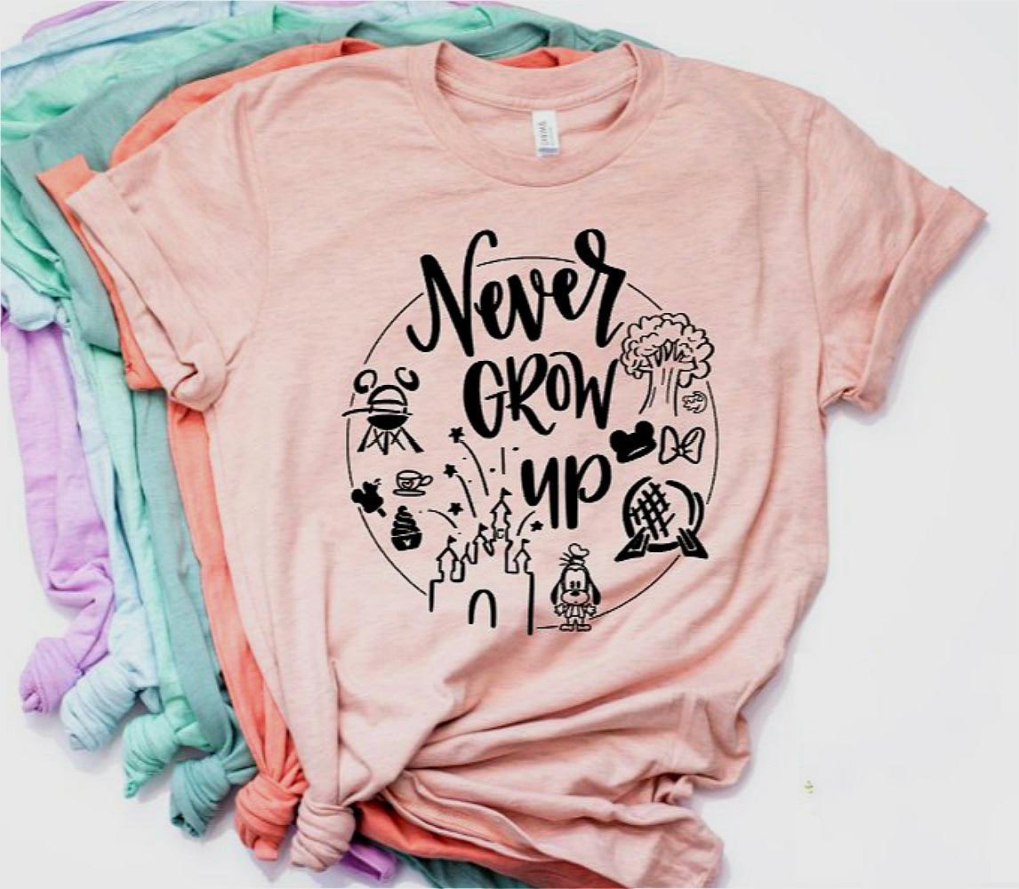 Camiseta Disney Lovers ¡no crezcas nunca! 4