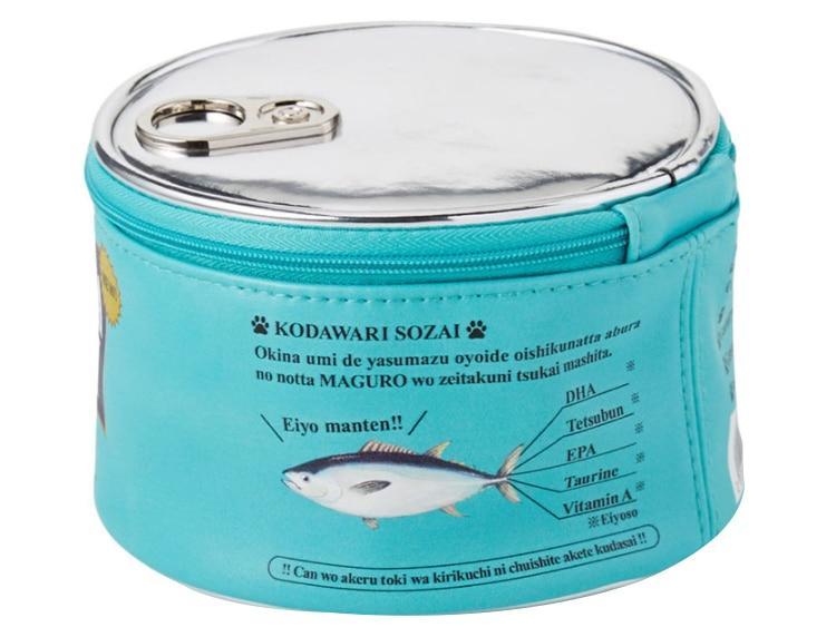 Neceser kawaii estilo lata de comida para gatos 6